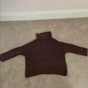 Brown Cowl Sweater